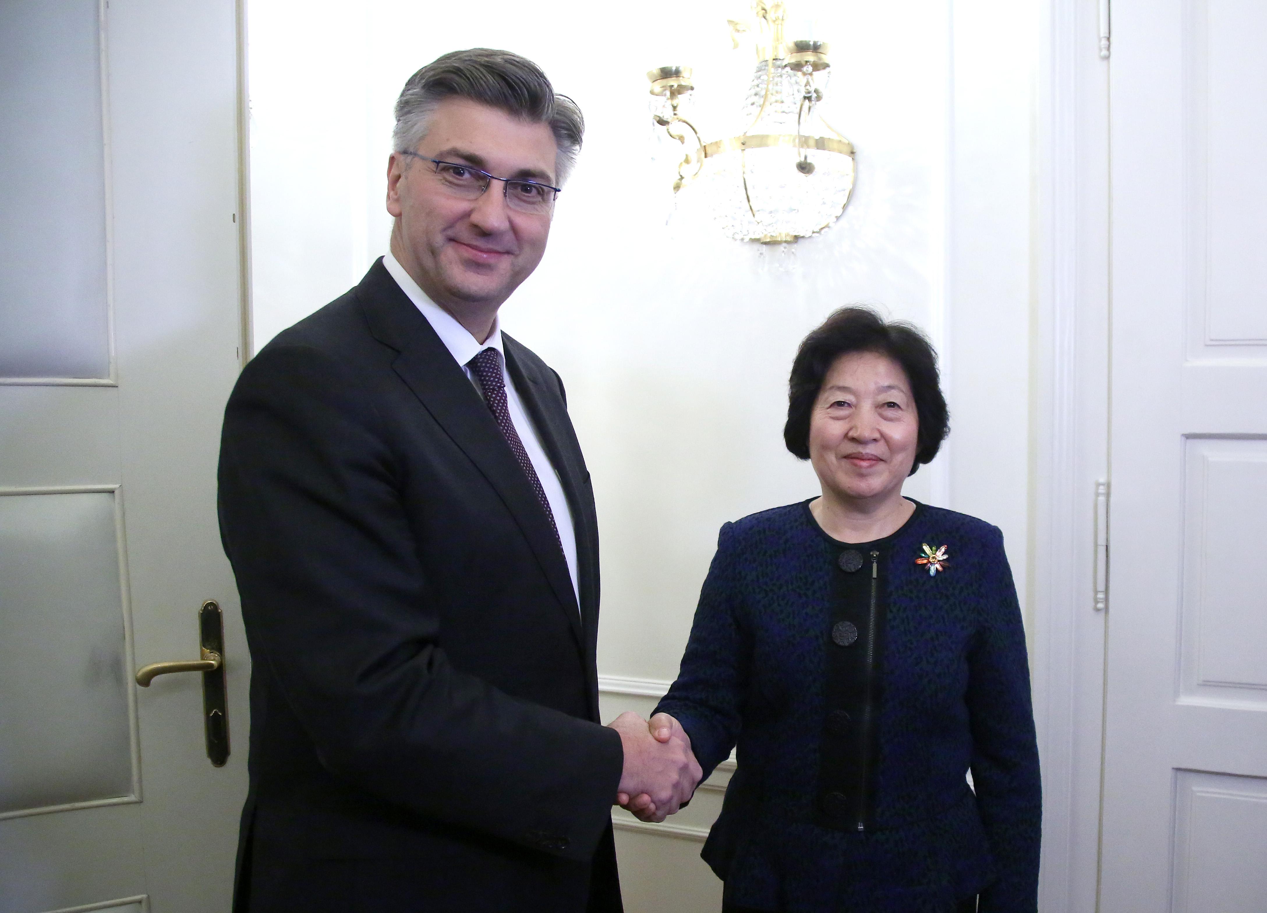 Plenković i Sun založili se za jačanje gospodarske suradnje između Hrvatske i Kine