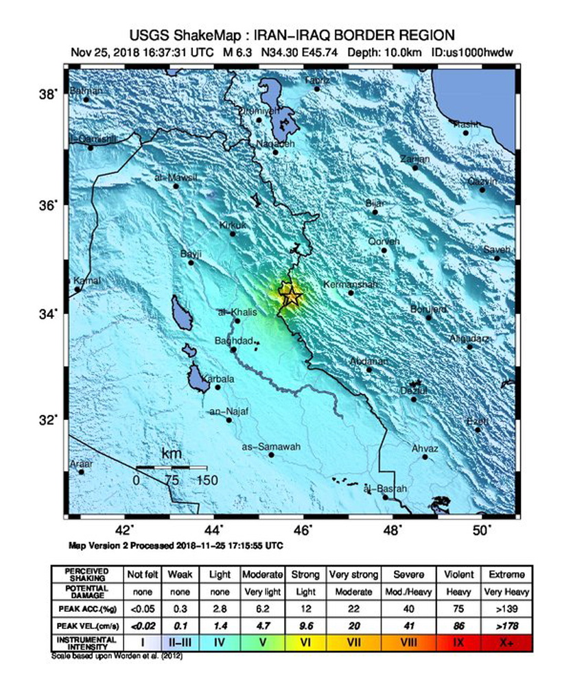 Više od 400 ozlijeđenih u potresu u Iranu