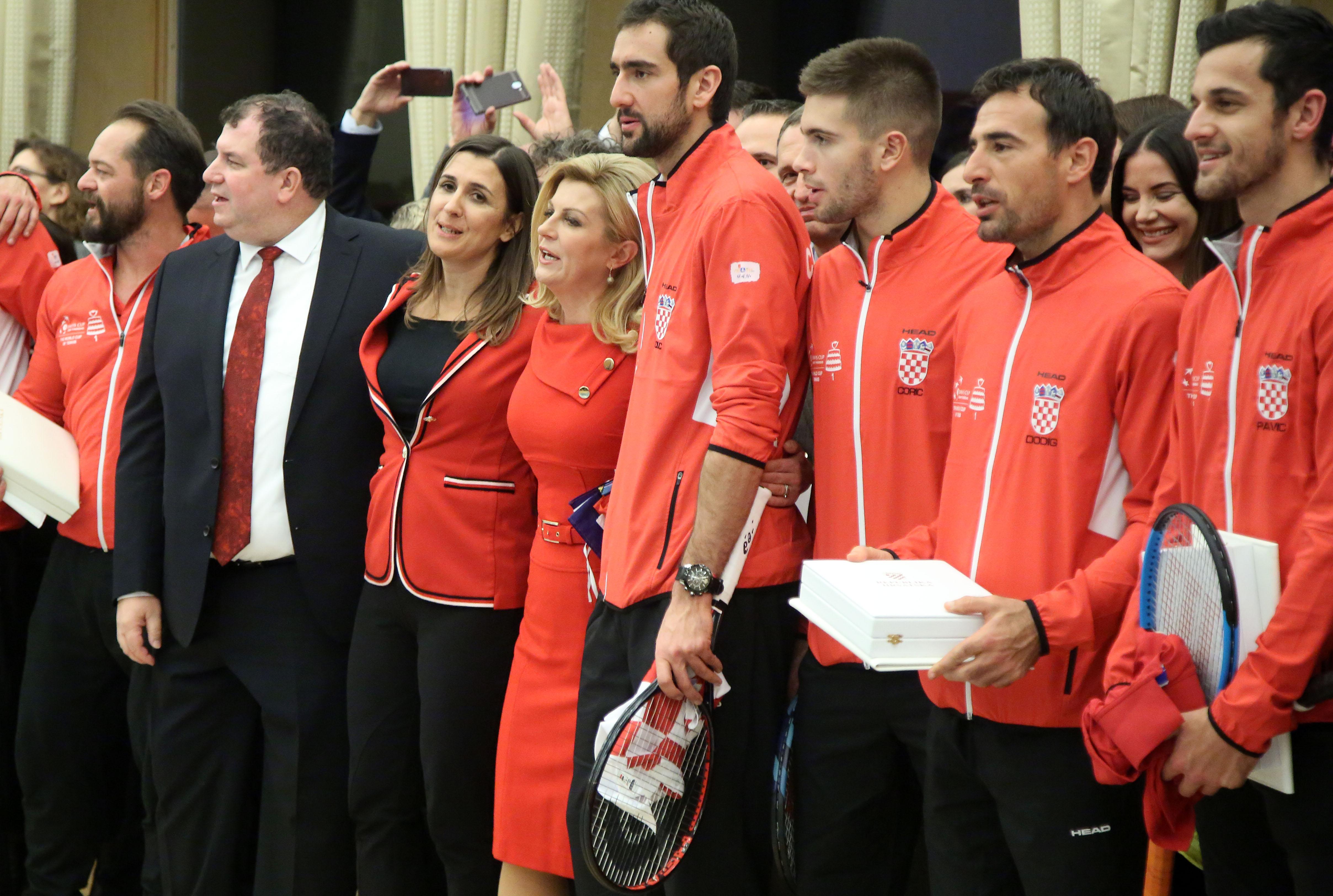 Predsjednica odlikovala članove Davis Cup reprezentacije