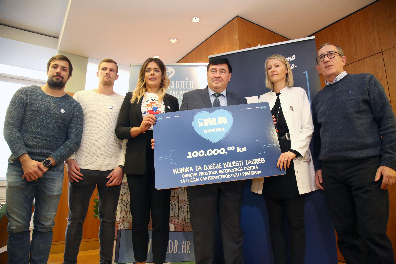 Ina donirala 100.000 kuna Klinici za dječje bolesti Zagreb