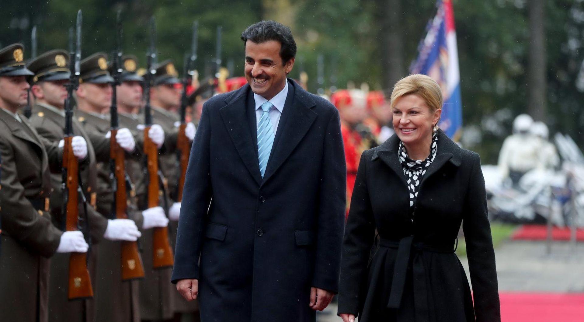 Katarski emir u posjetu Hrvatskoj