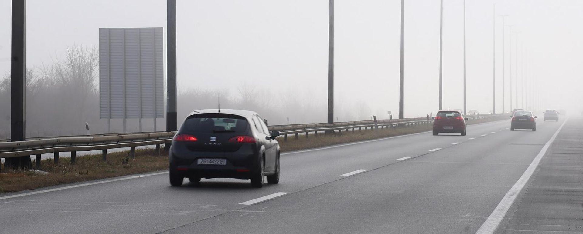 Magla smanjuje vidljivost, otežano na zagrebačkoj obilaznici