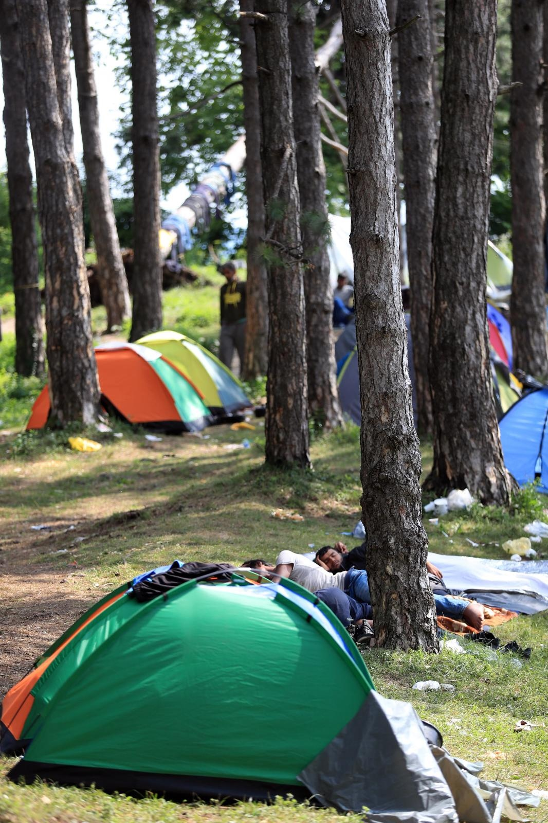 Migranti u Lici podignuli šatore na miniranom području