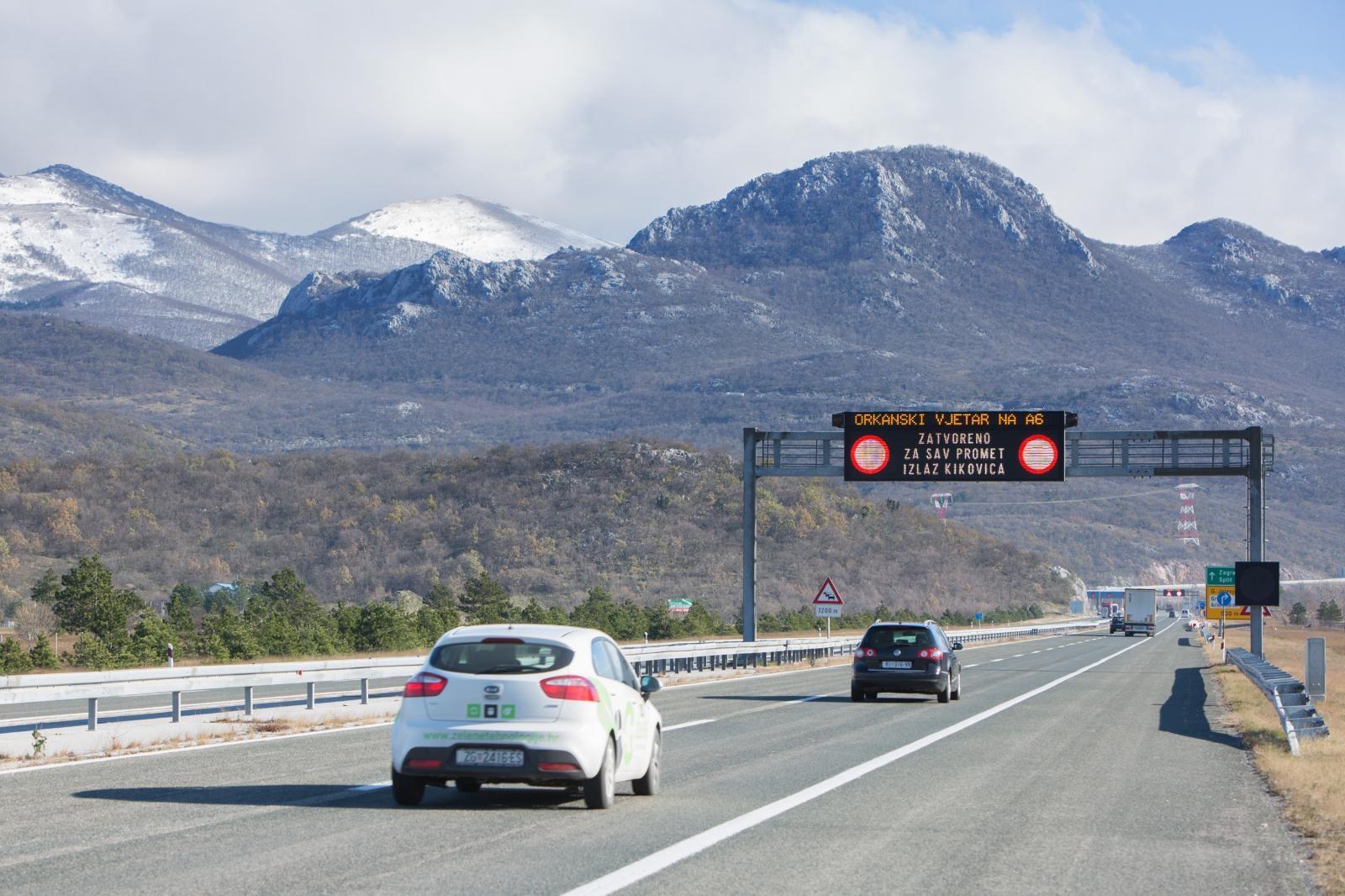 HAK Dionica A6 Kikovica-Delnice otvorena samo za osobna vozila