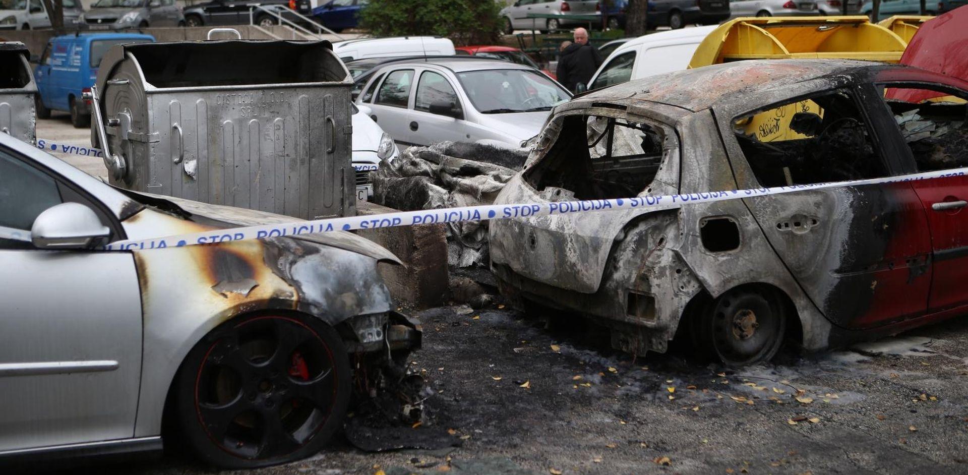 Izgorjela dva automobila u Splitu