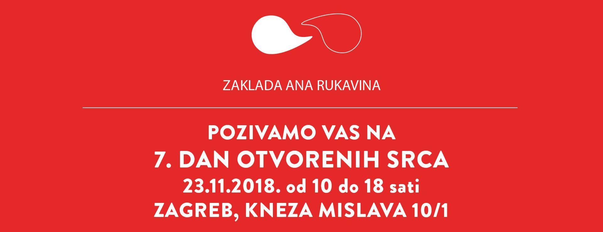 Zaklada Ana Rukavina održava sedmi 'Dan otvorenih srca'