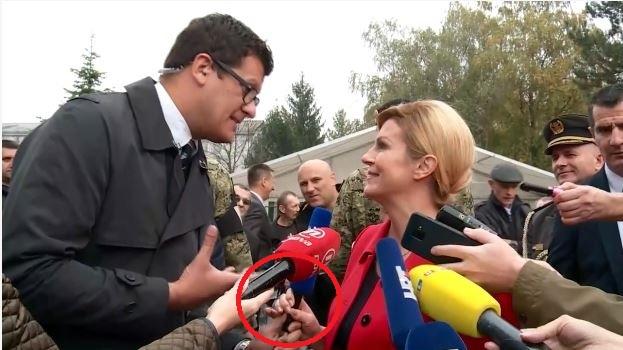 Predsjednica reporteru televizije N1 zgrabila mikrofon