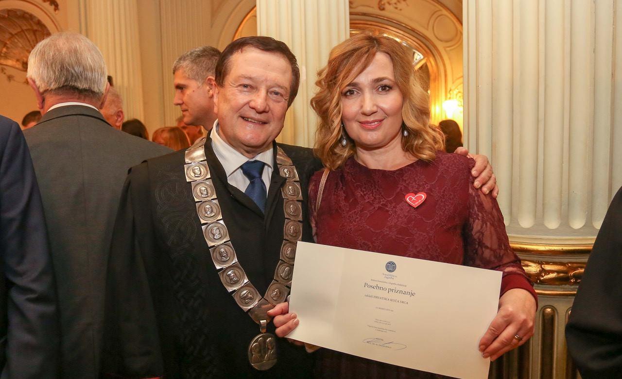 Zaklada 'Hrvatska kuća srca' dobila posebno priznanje rektora Sveučilišta u Zagrebu