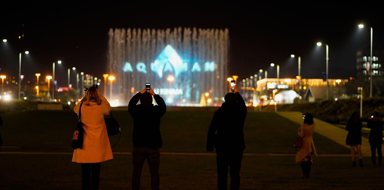 VIDEO: AQUAMAN Spektakularna projekcija i najava filma na zagrebačkim fontanama