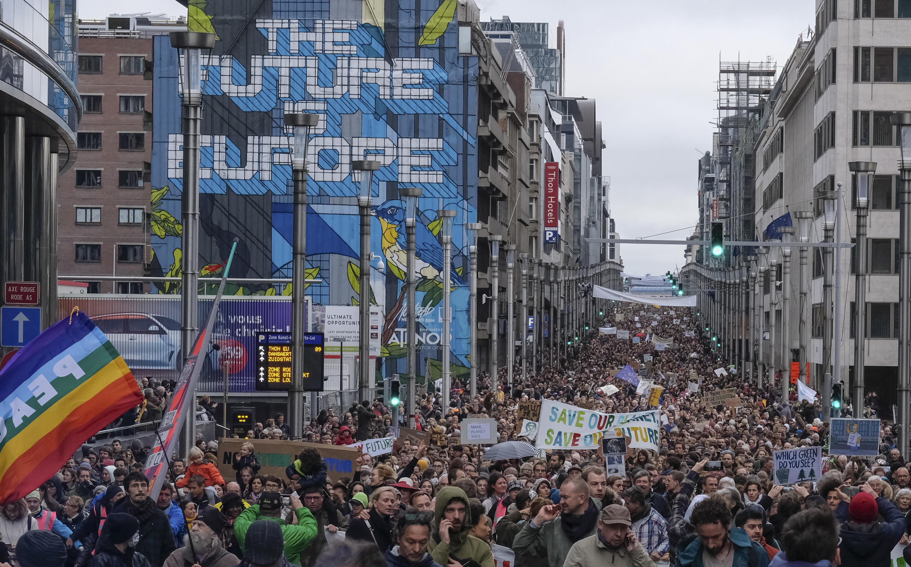Stanovnici Bruxellesa prosvjedovali protiv globalnog zatopljenja