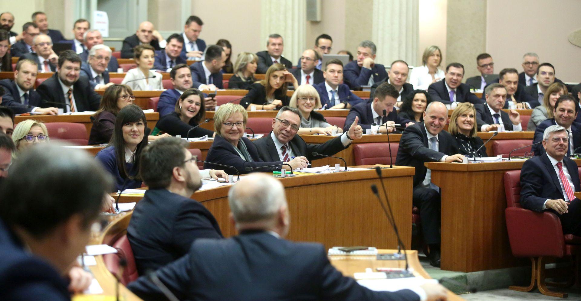 Hrvatski sabor usvojio državni proračun za 2019. godinu
