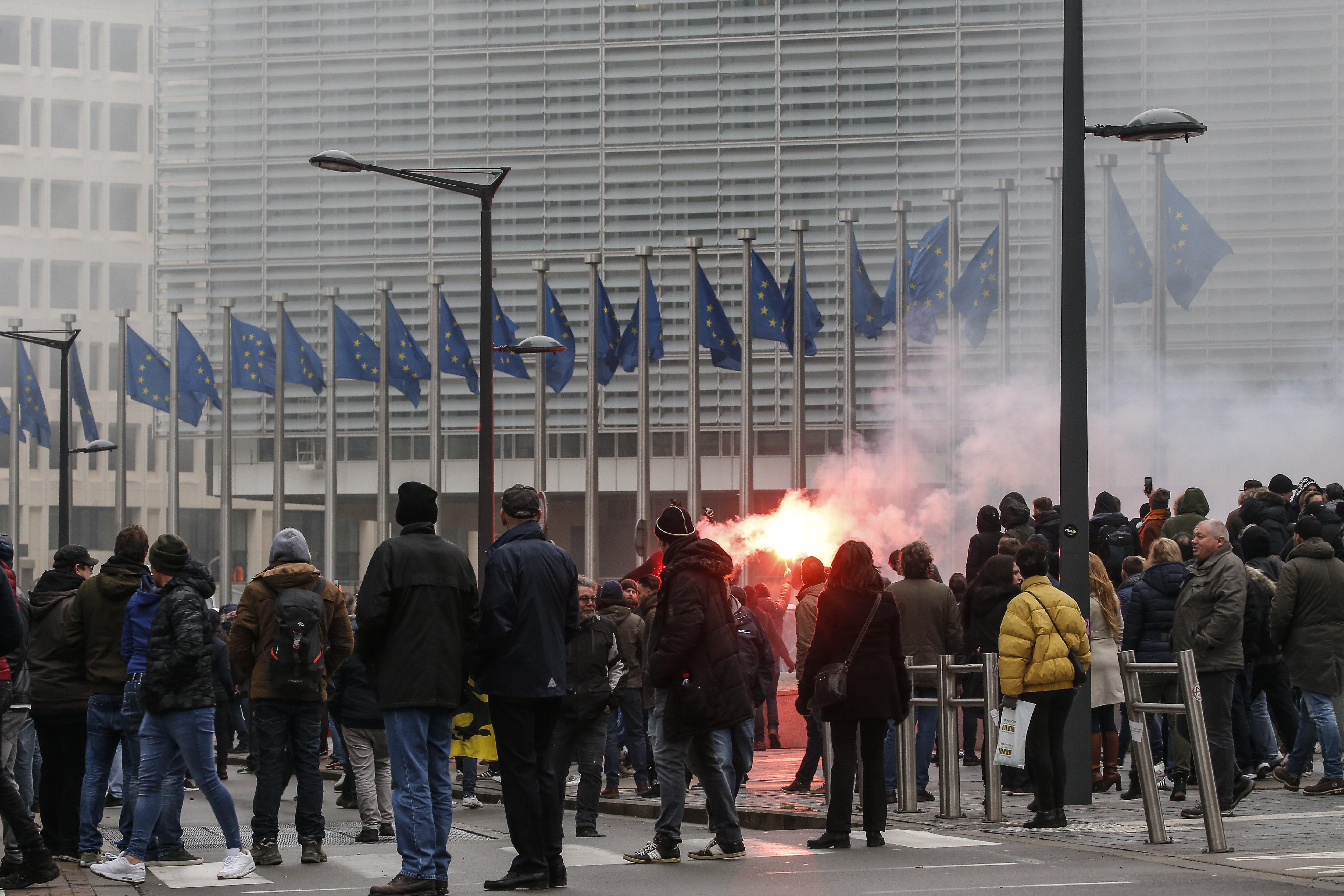 BRUXELLES Tisuće prosvjednika protiv UN-ova sporazuma o migrantima