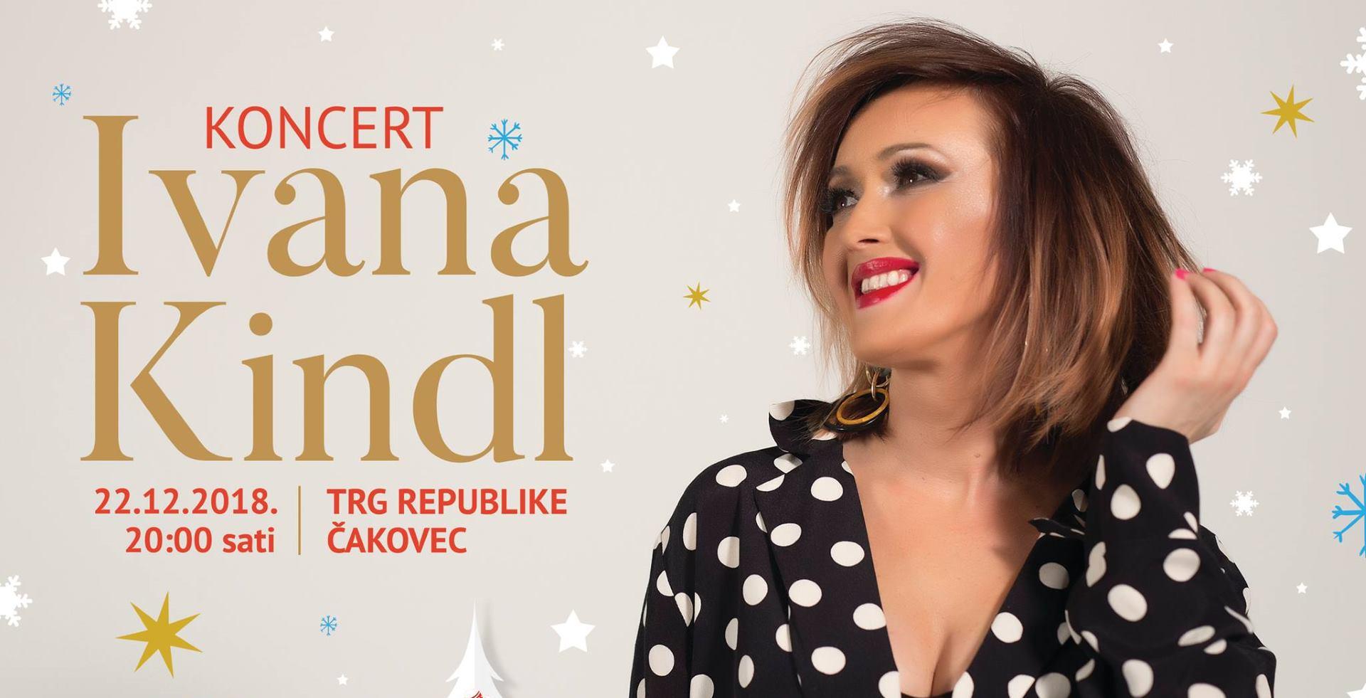 Ivana Kindl dolazi na Advent u Čakovcu