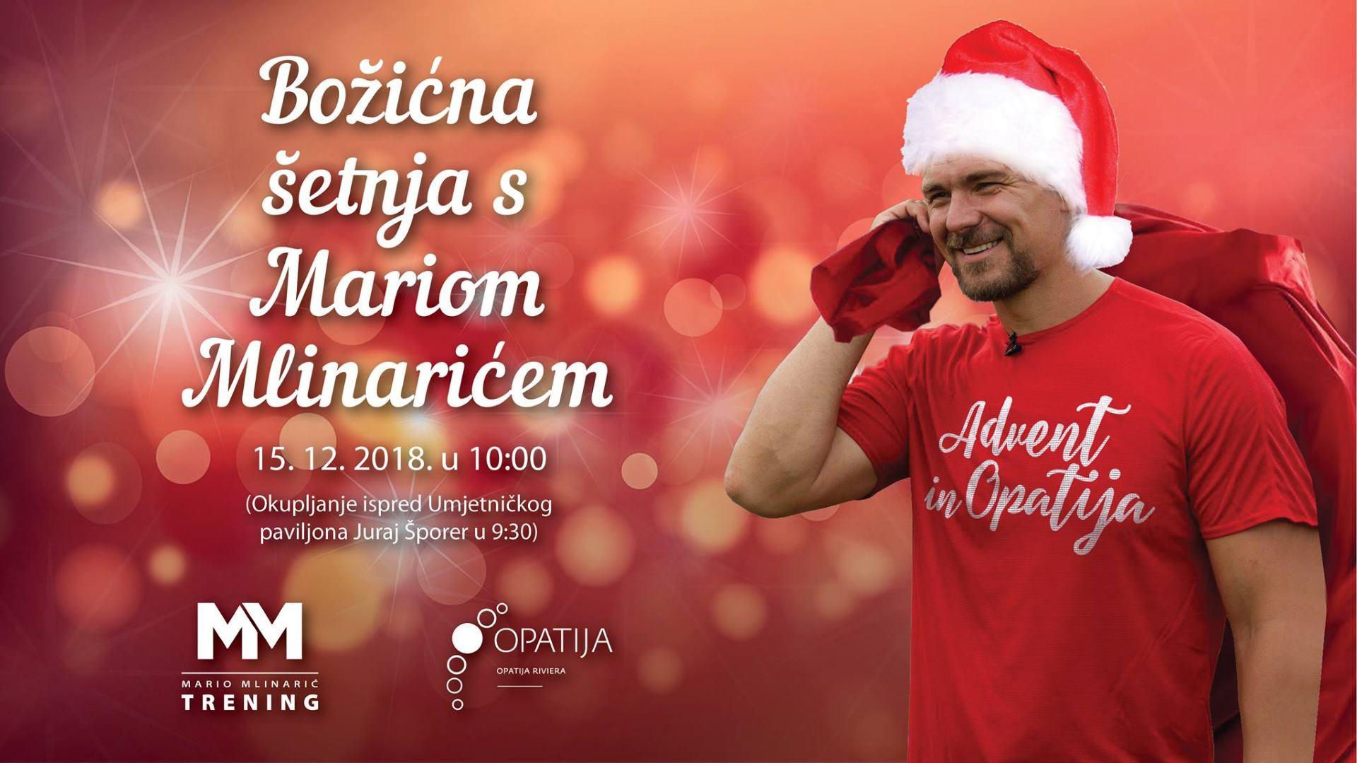 ADVENT OPATIJA Božićna šetnja s trenerom Mariom Mlinarićem
