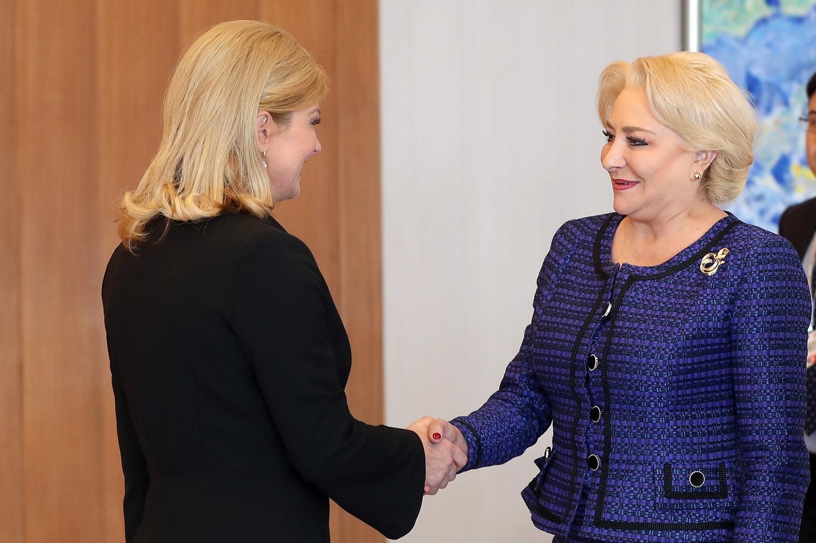 Grabar-Kitarović primila rumunjsku premijerku