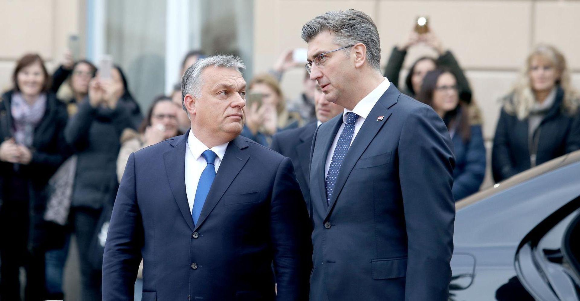 Orban s Plenkovićem na sastanku u Banskim Dvorima