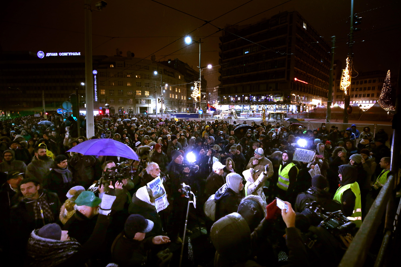 U Beogradu održan 6. prosvjedni mimohod