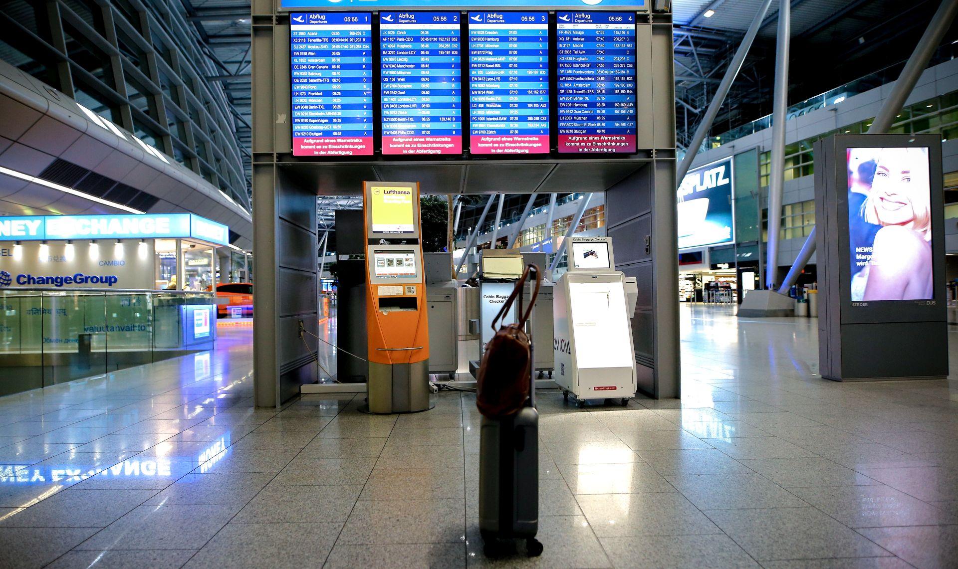 Za utorak najavljen štrajk u brojnim njemačkim zračnim lukama