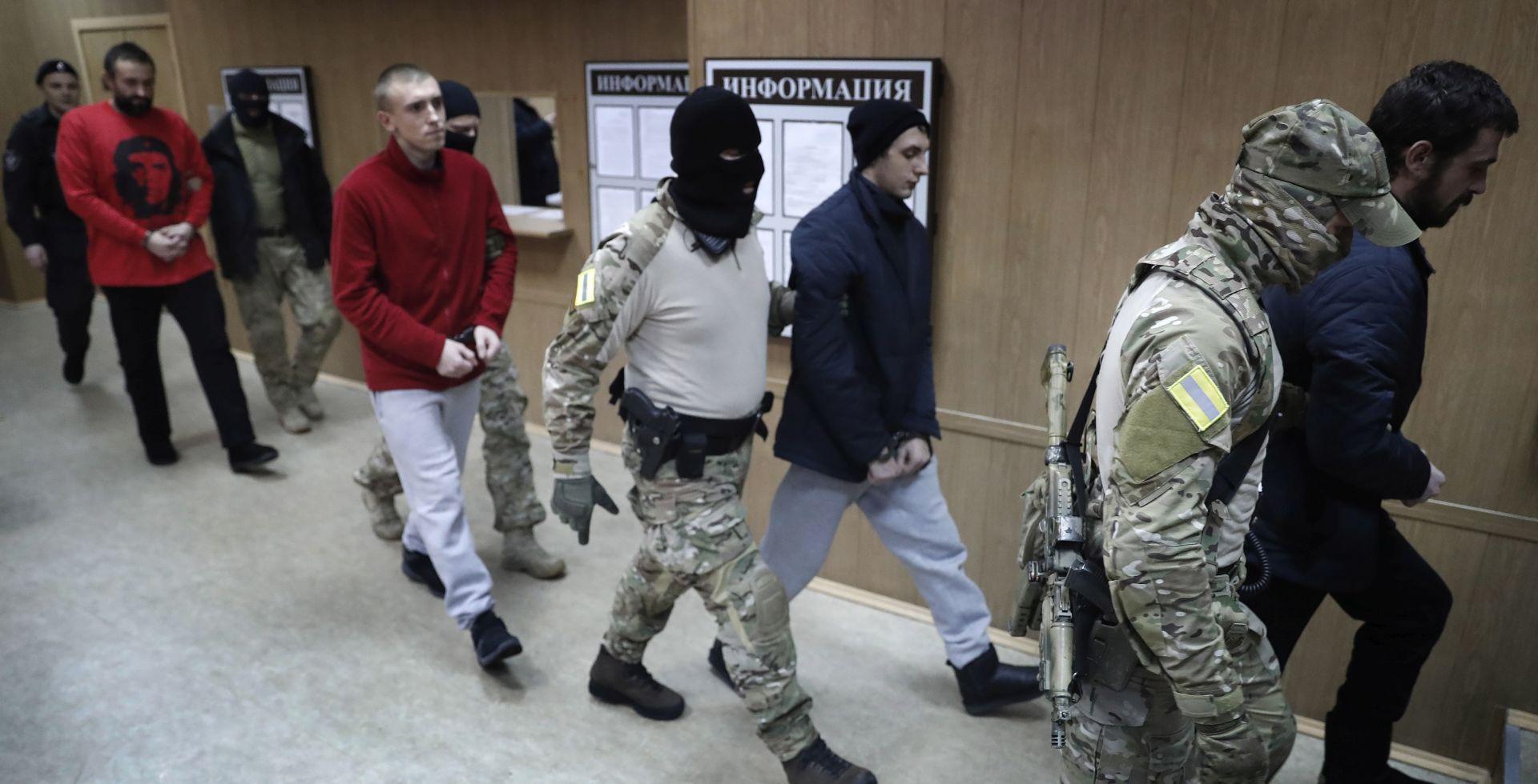 Rusija odlučila zadržati ukrajinske mornare u pritvoru do 24. travnja