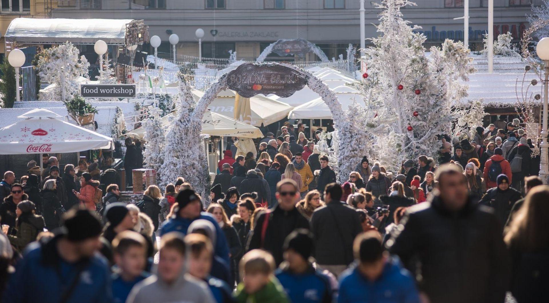 Zagreb za vrijeme adventa posjetilo 11 posto više gostiju