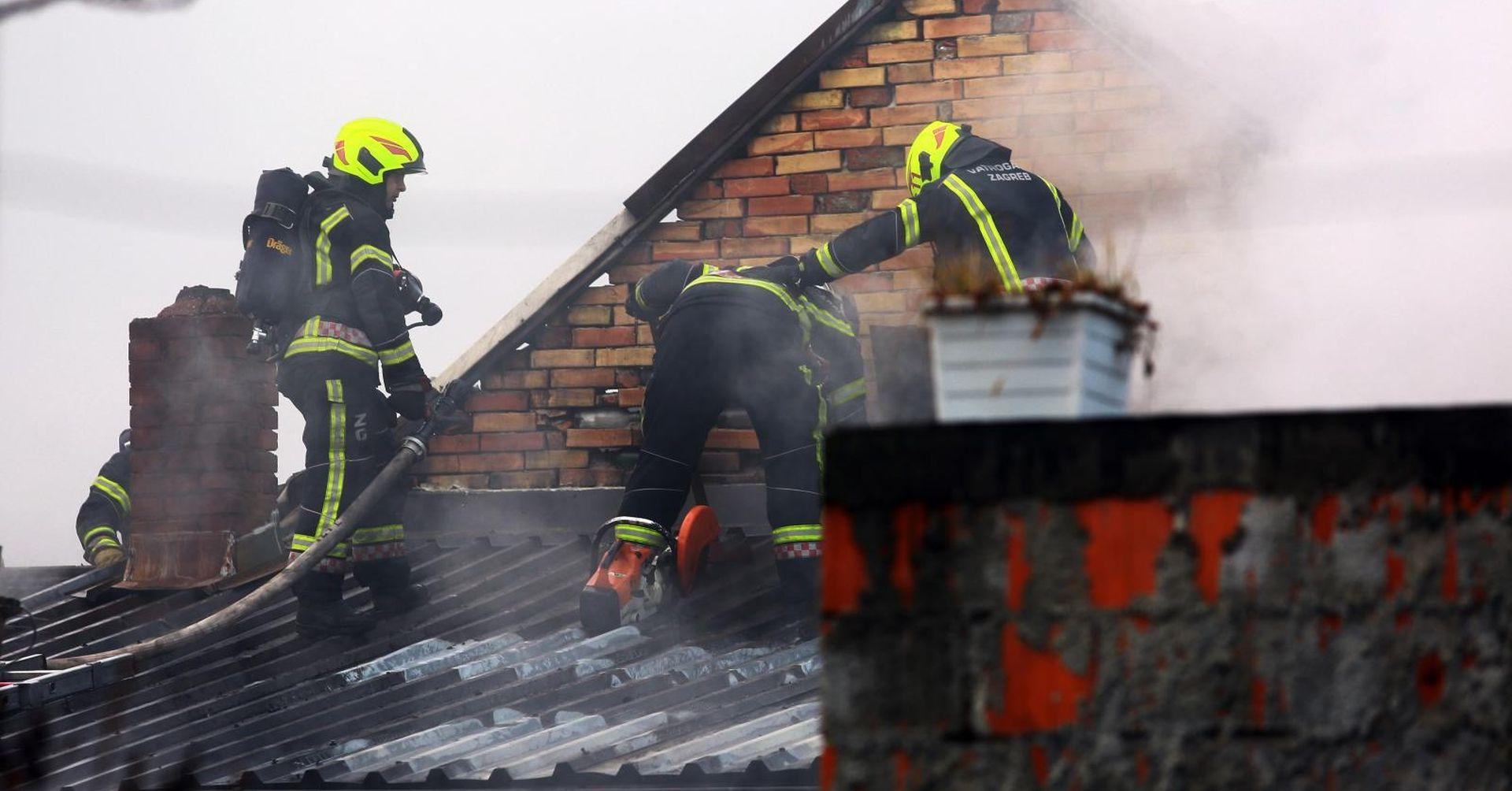 Požar u zagrebačkoj Trnavi, muškarac opečen