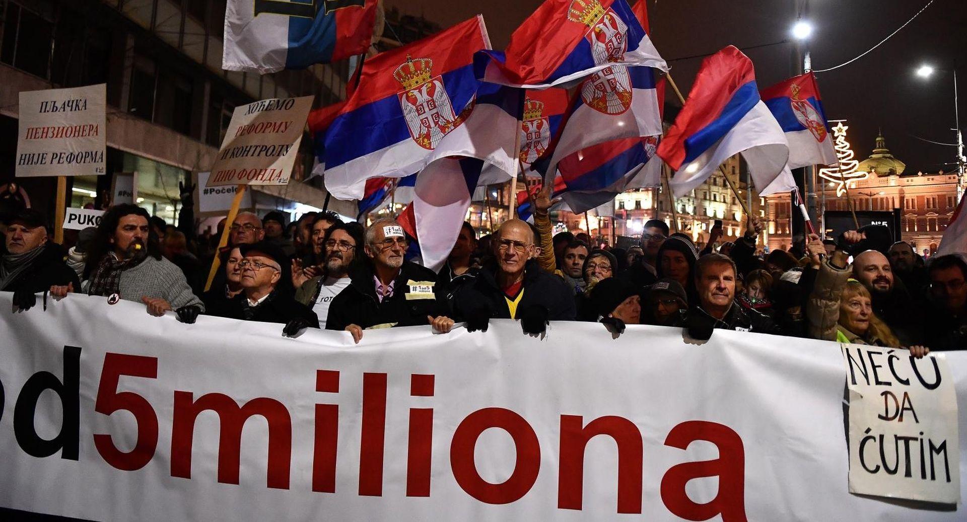 Tisuće Beograđana i ove subote na ulicama