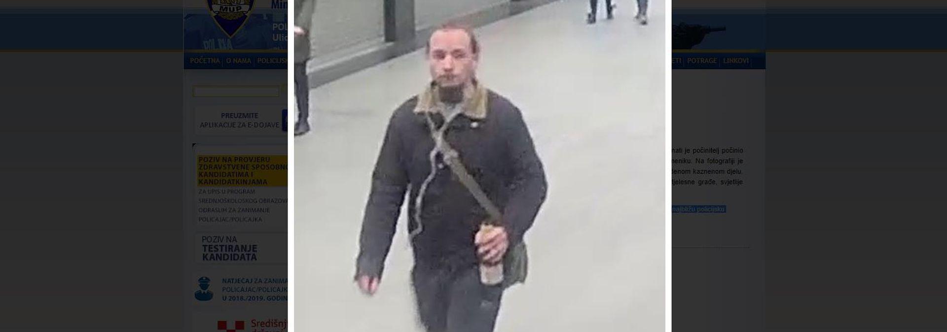 Policija traži ovog muškarca zbog srpa i čekića na spomeniku Tuđmanu