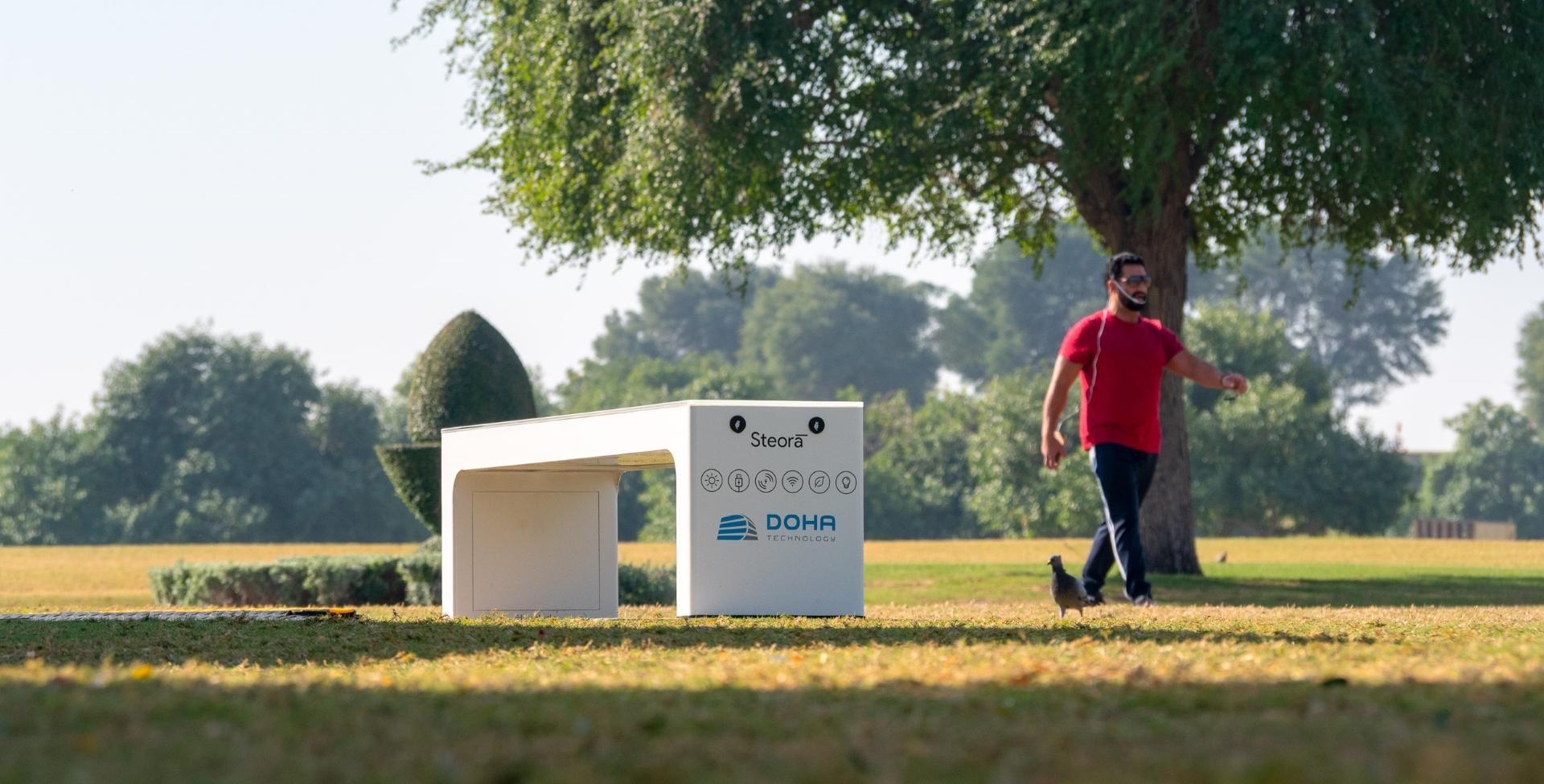 Model pametne klupe Steora Urban u Aspire Parku