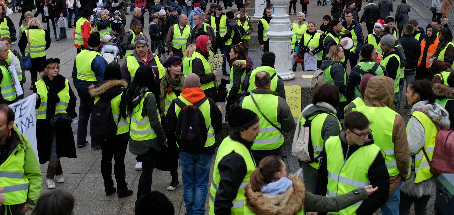 SUBOTA Žuti prsluci Hrvatske protiv Ovršnog zakona