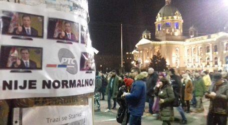 BEOGRAD Nastavljeni prosvjedi protiv Vučića