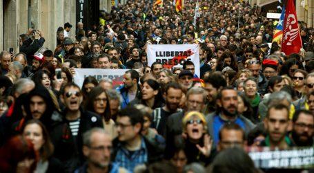 Prosvjed u Barceloni zbog suđenja separatistima, sukob s policijom