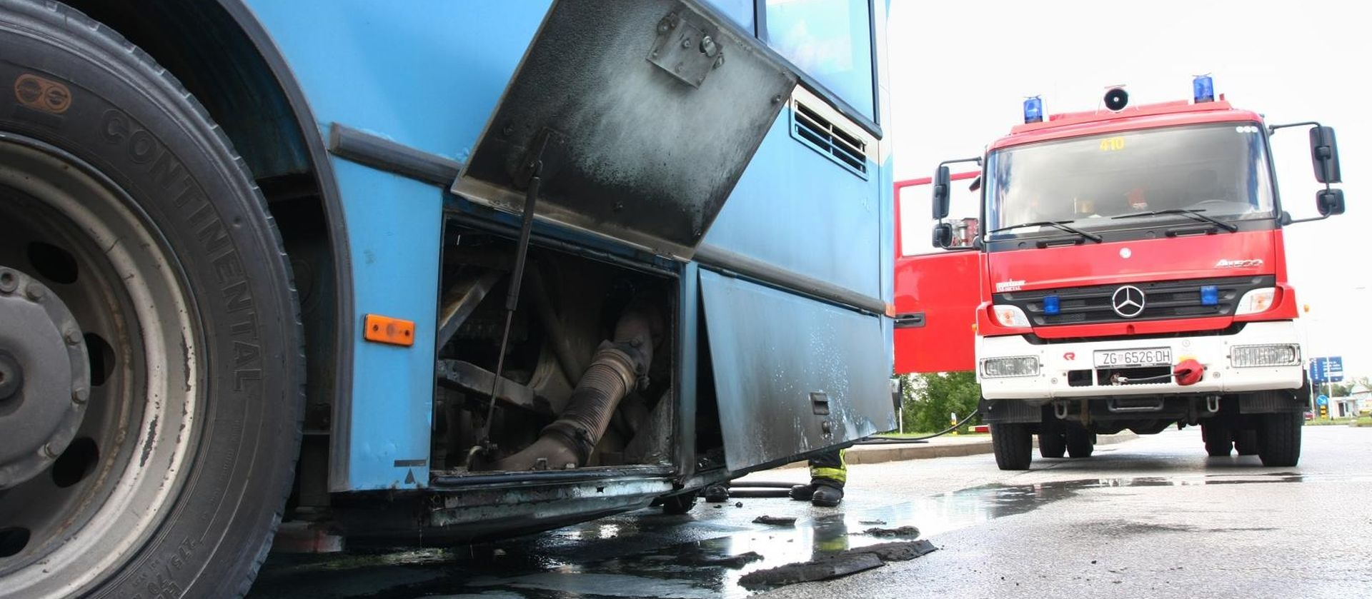 U Šestinskom Dolu zapalio se autobus ZET-a