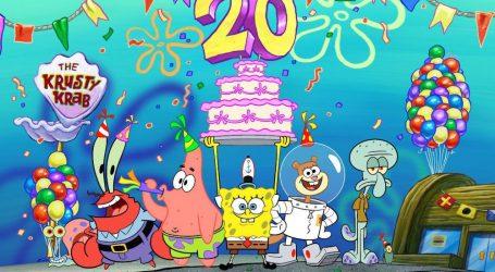 VIDEO: Spužva Bob Skockani slavi dvadeseti rođendan