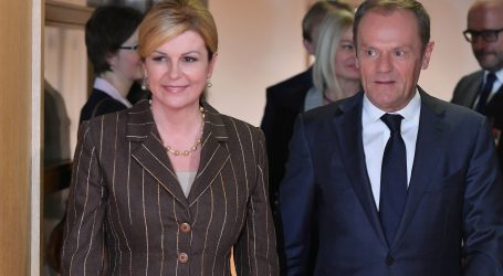 Grabar-Kitarović se sastala s Tuskom i Junckerom
