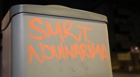 "Grafit ""Smrt novinarima"" ispisan u blizini zgrade N1 i Telegrama"