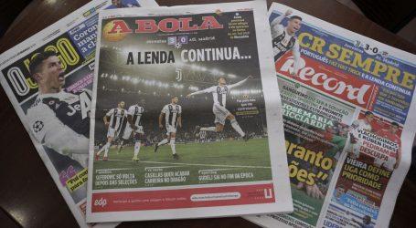 Ronaldo glavna vijest u Portugalu, o Dinamu tek 'mrvice'