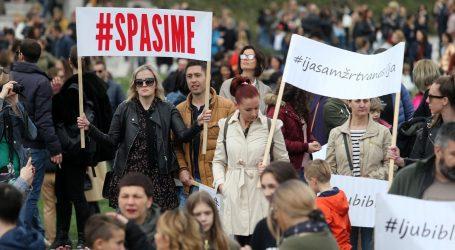 FOTO: #SPASIME Tisuće građana na prosvjedu
