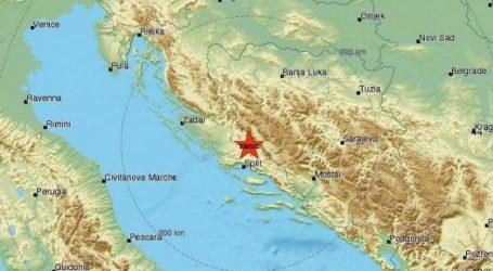 Snažan potres zatresao Dalmaciju, epicentar 16 kilometara od Sinja