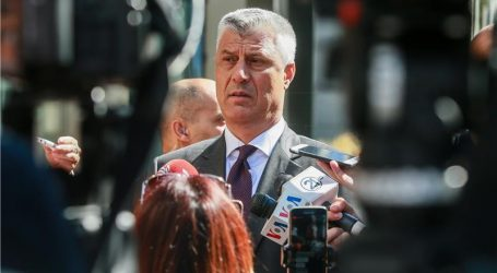 """THACI """"SAD smatram ključnim za rješenje sukoba sa Srbijom"""""""