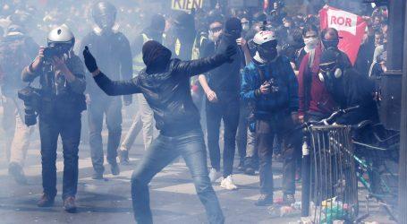 PARIZ Suzavcem na prosvjednike na prvosvibanjskom skupu