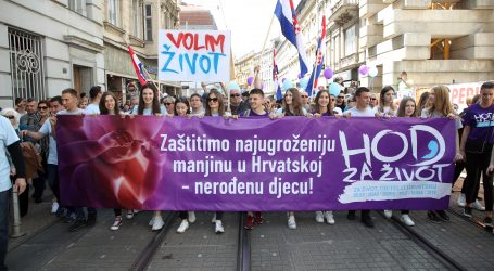 "U Zagrebu krenula povorka ""Hod za život"""