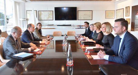 Grabar-Kitarović s knezom Albertom II.: zajednički interes u turizmu, zelenoj industriji