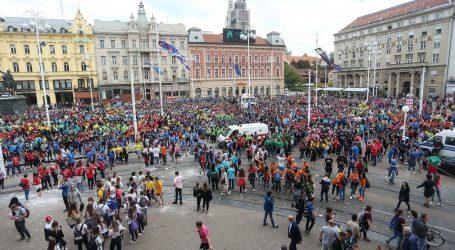 FOTO: Više tisuća maturanata na zagrebačkoj norijadi