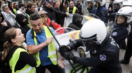 """Manji sukobi tijekom 30. tjedna prosvjeda francuskih """"žutih prsluka"""""""