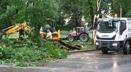 SISAK Olujno nevrijeme rušilo stabla, voda poplavila stanove