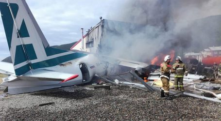 SIBIR: Avion prilikom slijetanja udario u zgradu i zapalio se, dvije osobe mrtve
