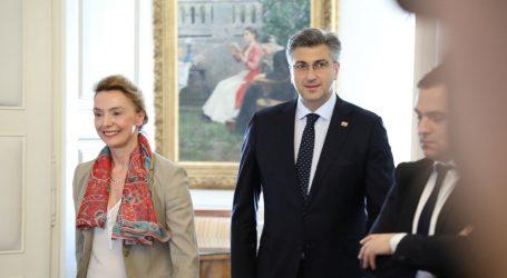 Plenković i Pejčinović Burić na zajedničkoj konferenciji za novinare