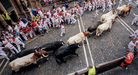 Petero ozlijeđenih u prvoj utrci s bikovima u Pamploni