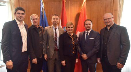 Predsjednica zadovoljna širenjem gospodarskih odnosa sa Švicarskom