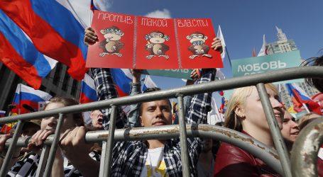MOSKVA Na prosvjedima za slobodne lokalne izbore više od 20.000 ljudi